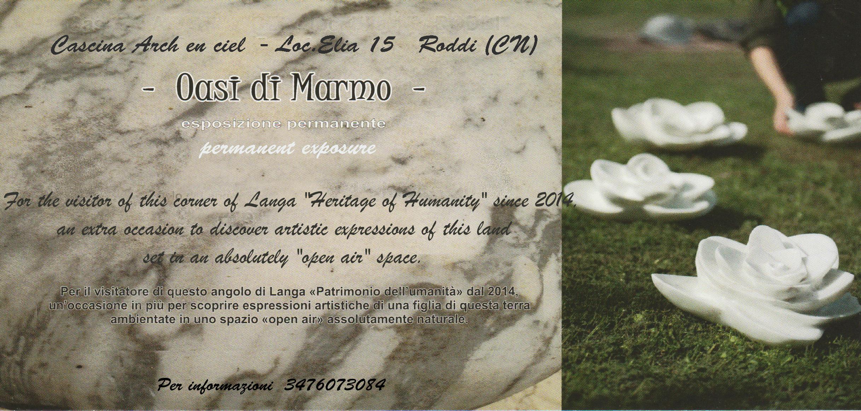"""Inaugurazione """"oasi di marmo"""""""